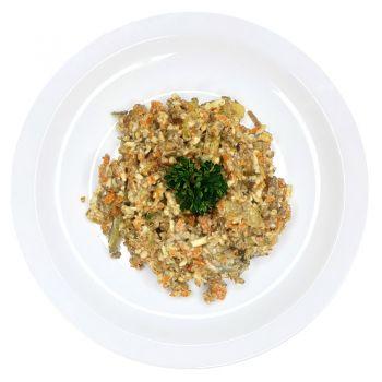 Салат из печени с овощами (вес)