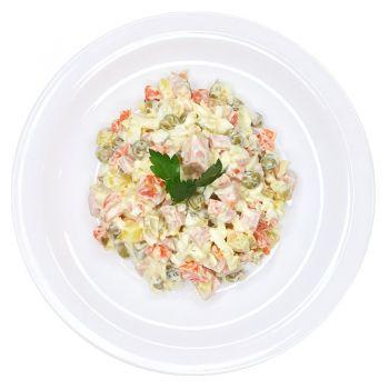 Салат овощной с колбасой  (вес)