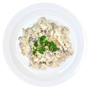 Салат из птицы с грибами (вес)