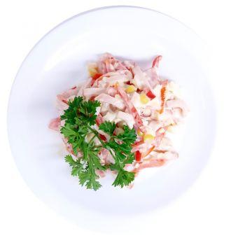 Салат из овощей с ветчиной (вес)